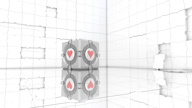 Companion cube wallpaper by EcripArts