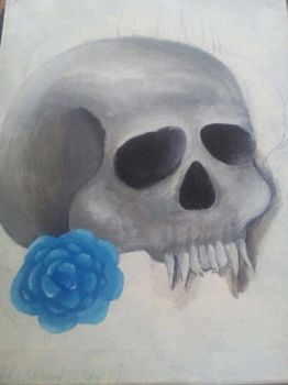 Daisy Madness - Skull Painting by Daisymadness