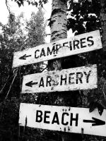 camp sign by morgangirlygril