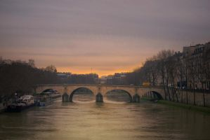 Paris soft morning by binarymind