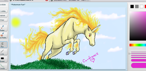 Rapidash -iScribble- by Candrence