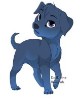 Blue puppy :3 by DrawingTone
