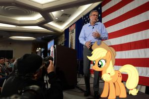 Applejack SUPPORTS Jeb Bush! by RicRobinCagnaan