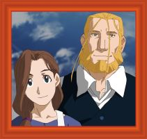 FMA: Hohenheim And Trisha by JaggedHammer
