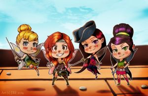 Chibi Tinkerbell and the Pirate Fairy-batch 1 by Bostonology