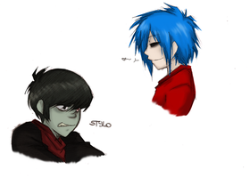 Gorillaz- Some Stuff by HoneyAppleNinja