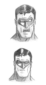 Hal- Green Lantern Head Sketches by TonyZeller-614