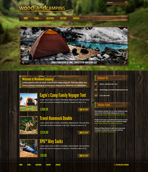Woodland Camping Website by ipholio