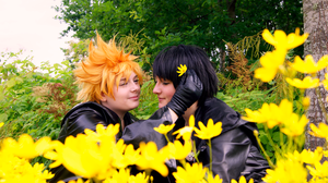 Roxas and Xion - Flower by Millahwood