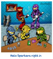 Halo Spartans Night Off by pickledjo
