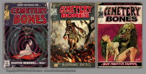 CEMETERY BONES COVERS by sideshowmonkey