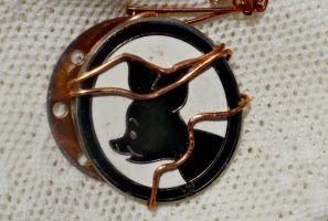 Winnie the Pooh Piglet Copper Wire Wrapped Pendant by elllenjean