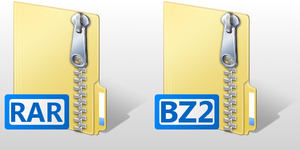 Vista 7-Zip icons by jbuk2k7