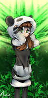 Weird Panda Hooded Girl by HyperChronic