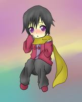 Lelouch in Winter wear by DarkyCakeDoodles