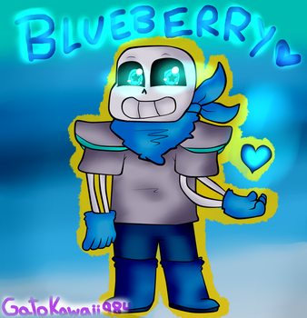 Blueberry Sans Kawaii by Gatokawaii984