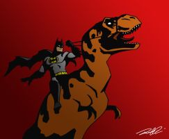 Ride Em Batman Redux by RobtheDoodler