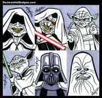Star Wars Sketch Cards 02 by DeJarnette