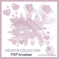 Hearts Collection PSP Brushes by betadefelippe