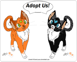 Tiger Kitties Adoptables-SOLD- by Dealupus