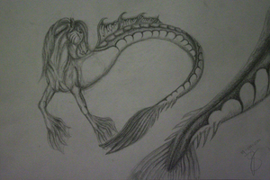 Hippocampus graphite by Summerly