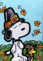 Snoopy Woodstock Thanksgiving by CassieJ787