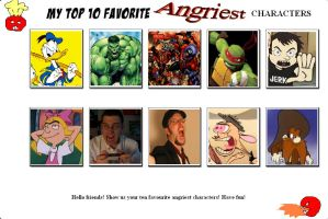 My Top 10 Favorite Angry Characters by SithVampireMaster27
