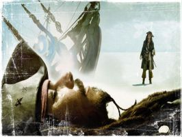 Captain Sparrow Wallpaper by evionn