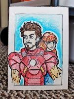 Iron Man 3 Sketch Card by miss-lys