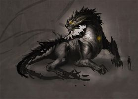 Dark Dragon. by ArtofTy