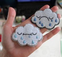 Handsewn Stormcloud patches by loveandasandwich
