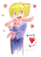 Honey Kun practice by mangaman13