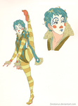 clown girl concept stuff by zeratanus