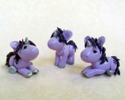 Purple Baby Unicorns by DragonsAndBeasties