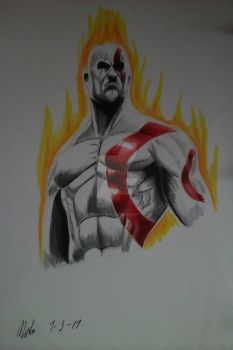God of War Kratos by Personaminato