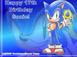 Happy 17th Birthday Sonic X3 by Sonicbandicoot