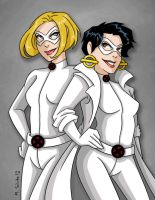 Cracker Cat and Shedder Cat by msciuto