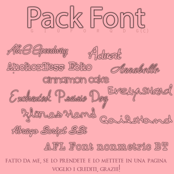 Pack Font #2 by giuforqdg