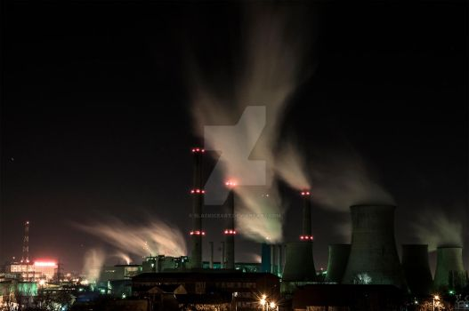 Night thermal plant by blackiceART