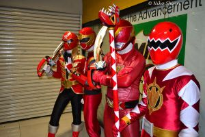 Red Rangers by nikocruz