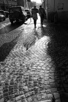 Shadows on the cobbles by aglezerman