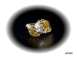 Gold spirale wire ring by jasmin7