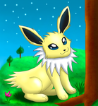 [Gift] Smiling Jolteon by Foxie-The-Vulpix