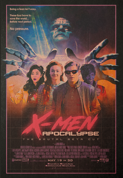 X-Men: Apocalypse - The Brutal Beta Cut poster v.2 by NiteOwl94