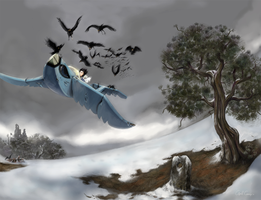 Crashing the Paperwing by Apetron