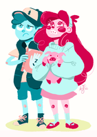 mabel and dipper! by papier-crane