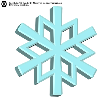 Snowflake 3D Render by Neveryph-stock