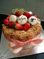 Earl Grey Strawberry Shortcake by Sliceofcake