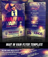 PSD Wait In Vain Flyer Template by retinathemes