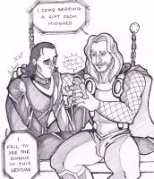 Thor and Loki - Cheer up! by puking-mama